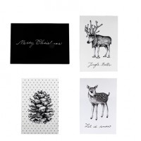 Kartki świąteczne 4szt