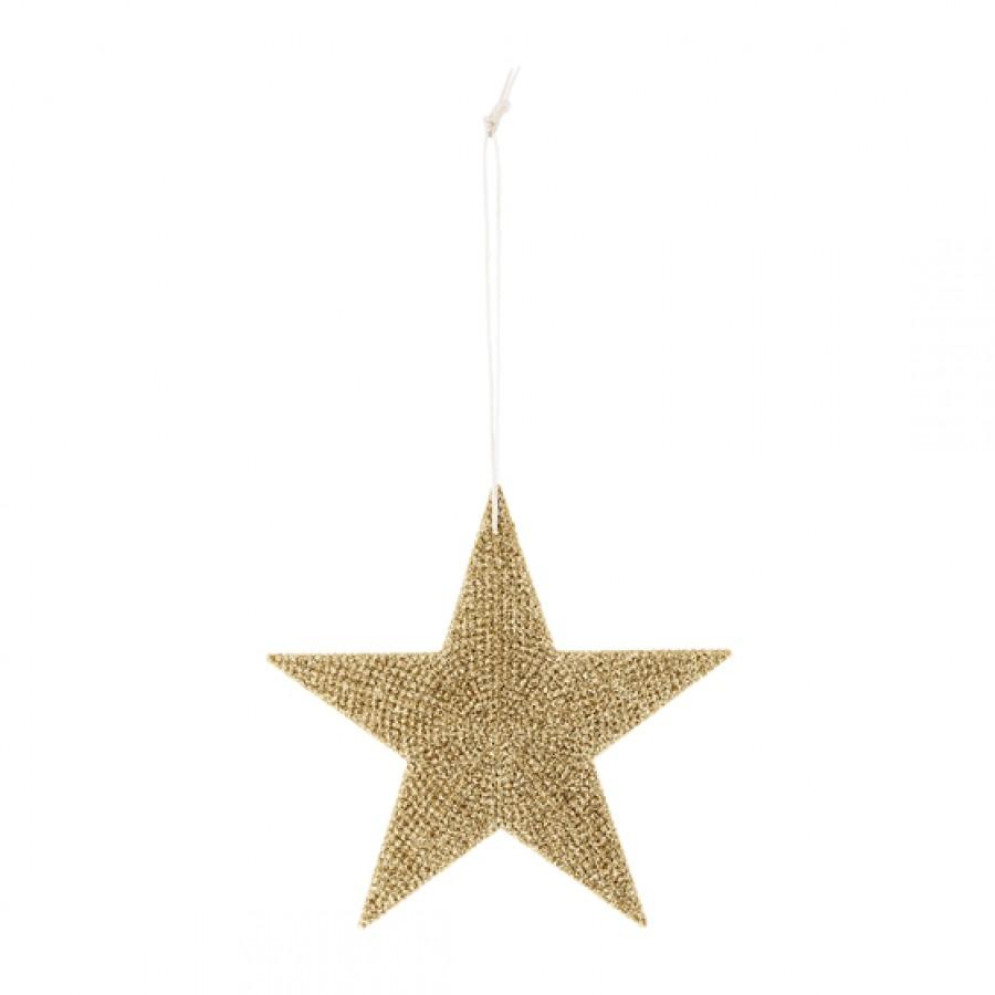 Dekoracja złota gwiazdka