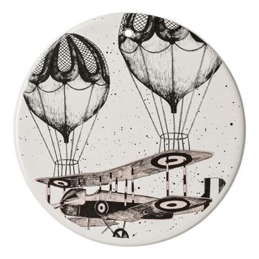 Dekoracja balon z samolotem, podstawka
