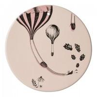 Dekoracja balon różowa, podstawka