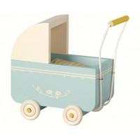 Drewniany wózek Micro niebieski