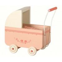 Drewniany wózek Micro różowy