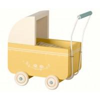 Drewniany wózek Micro żółty