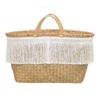 Koszyk plażowy z frędzelkami