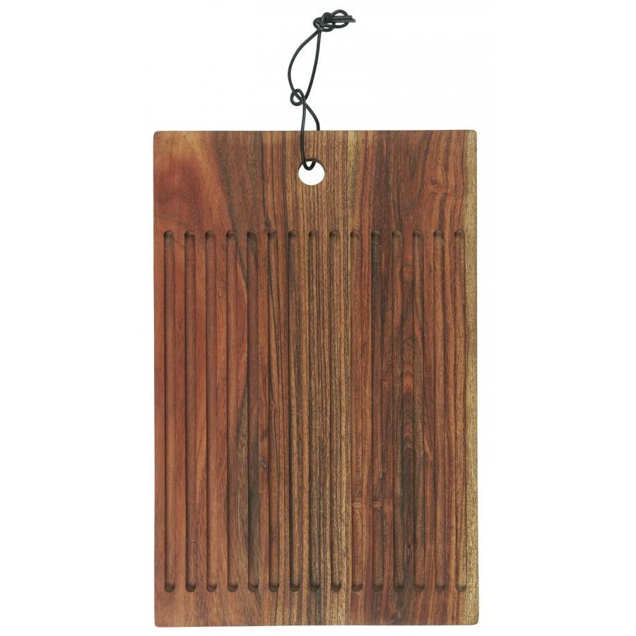 Deska drewniana z rowkami