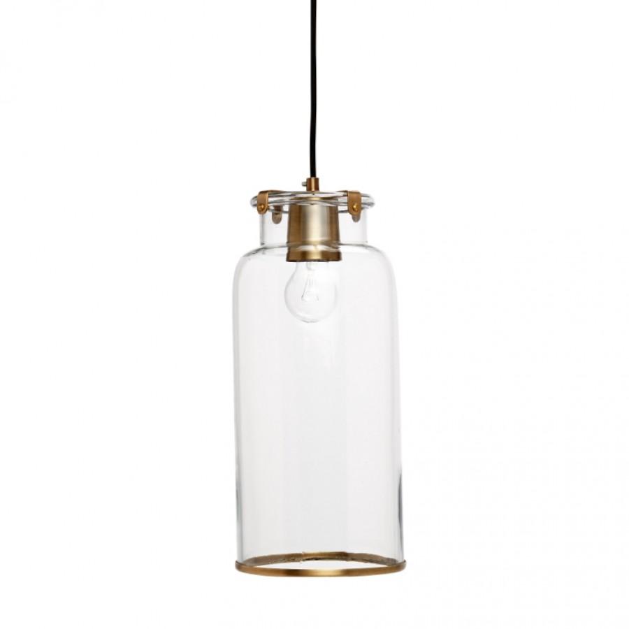 Lampa szkło-mosiądz wąska