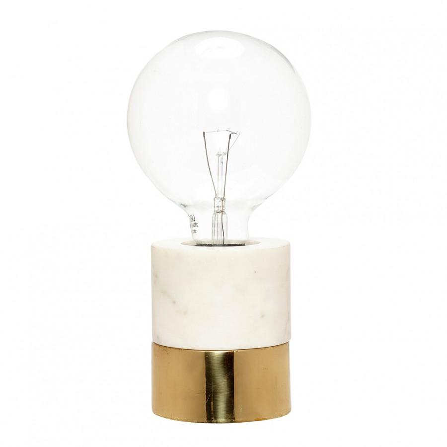 Lampa marmurowa złota
